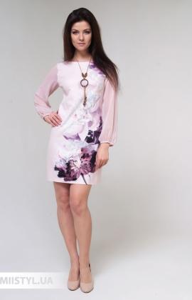 Платье La Fama 1526 Пудра/Принт