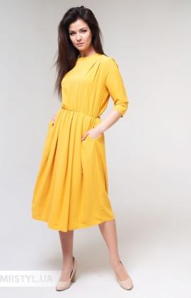 Платье La Fama 1524 Темно-желтый