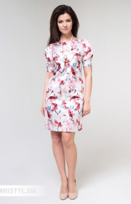 Платье F&K 3485 Молочный/Терракотовый/Принт