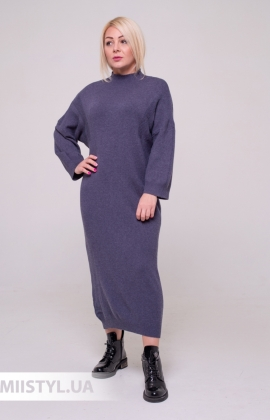 Платье La Fama 1549 Голубой/Принт