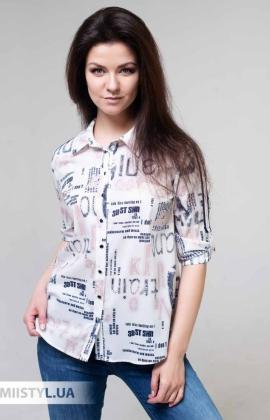 Блуза Fusion 75438A Белый/Синий/Принт