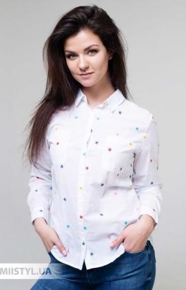 Блуза AYN 1770 Белый/Принт