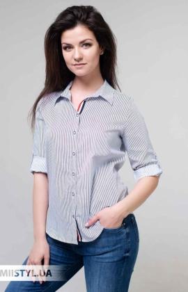 Блуза Fusion 75441A Белый/Темно-синий/Полоска