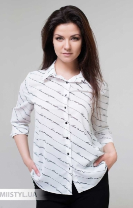 Блуза Fusion 75443A Белый/Черный/Принт