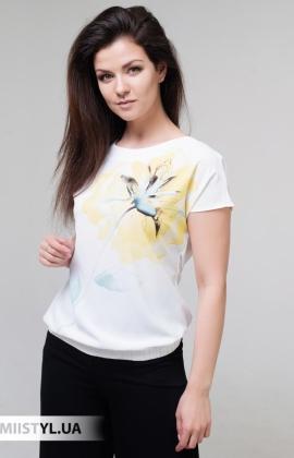 Блуза Cliche 4034809 Белый/Желтый/Принт