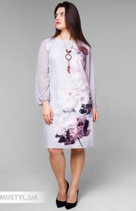Платье La Fama 1526B Серый/Принт