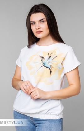 Блуза Cliche 4039809 Белый/Желтый/Принт