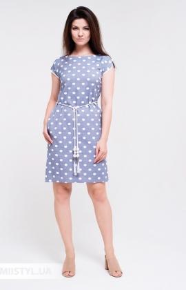 Платье Lady Morgana 5037 Индиго/Белый/Горох