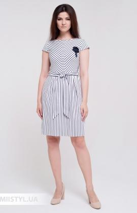 Платье Lady Morgana 5048 Белый/Черный/Полоска