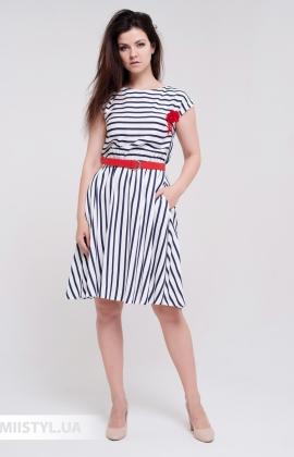 Платье Lady Morgana 5045 Белый/Синий/Полоска