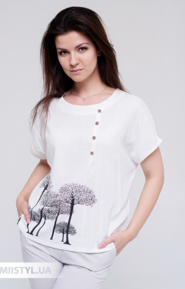Блуза MC 1606 Молочный/Принт