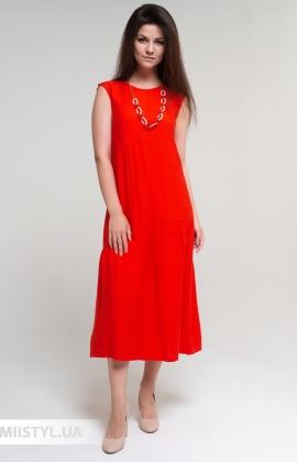 Платье Miss Lilium 20Y10006 Оранжевый