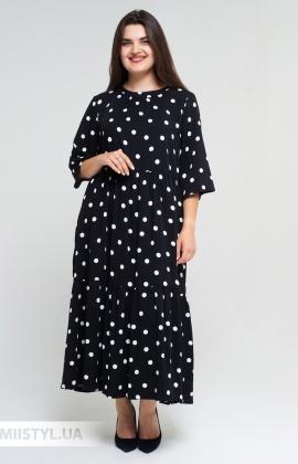 Платье Miss Lilium 20Y10939X Черный/Белый/Горох