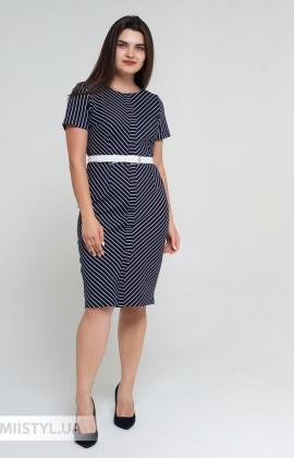 Платье Lady Morgana 6048 Темно-синий/Белый/Полоска