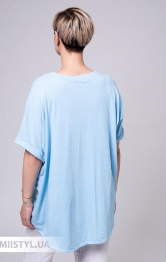Блуза Miss Cocco 6147 Голубой/Принт
