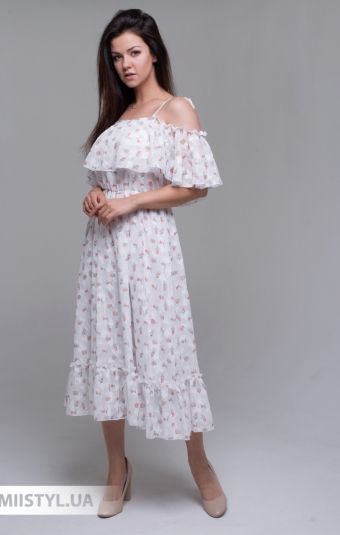 Платье  J.London 62801 Белый/Горчичный/Принт