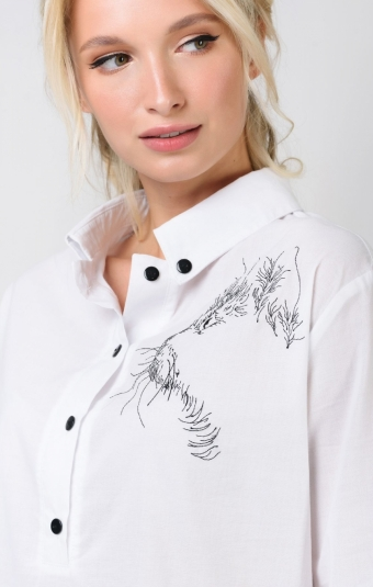 Блуза RM1311-19DB Белый