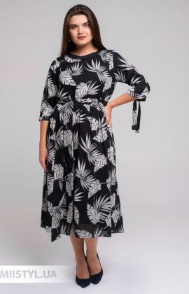 Платье Tessy 6545 Черный/Серый/Принт