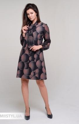Платье La Fama 1606 Черный/Бежевый/Принт