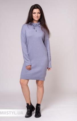 Платье Serianno 10С8154 Серый/Люрекс