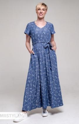 Платье F&K 3036 Джинсовый/Принт