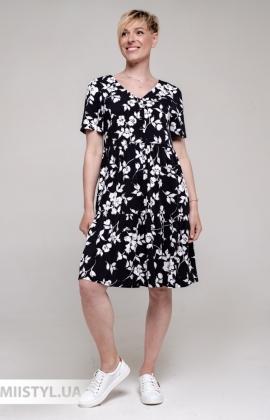 Платье GrimPol 2119 Черный/Белый