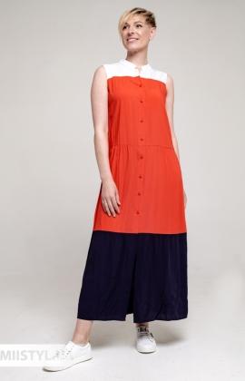 Платье Рута С 4436ВС Белый/Красный