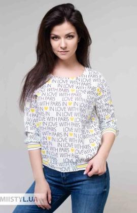Блуза Fusion 53803A Белый/Желтый/Принт