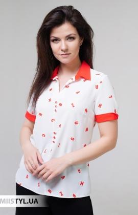 Блуза Merkur 0515023 Белый/Красный/Принт
