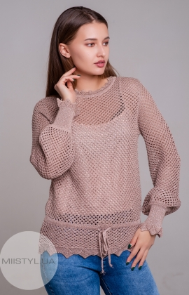 Блуза Serianno 10C5086 Пудра/Люрекс