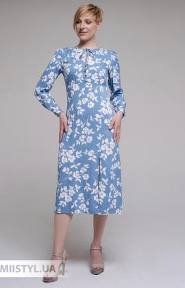 Платье GrimPol 2102 Голубой/Принт