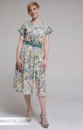 Платье F&K 3019 Мятный/Принт