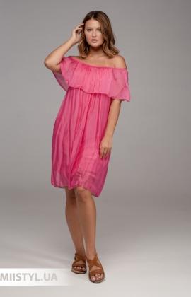 Платье Puro Lino 7051 Малиновый