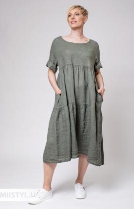 Платье Miss Cocco 6087 Хаки