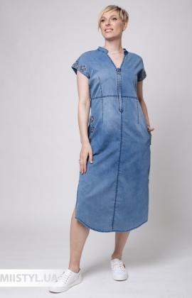 Платье Stella 0481-04 Джинсовый