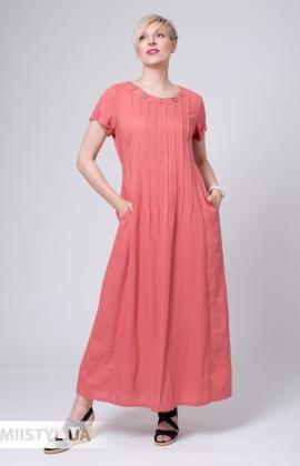 Платье Рута С 4261ЛН Темно-коралловый