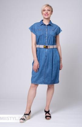 Платье Asil 898-21313 Джинсовый
