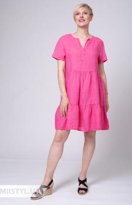 Платье Puro Lino 8849 Малиновый
